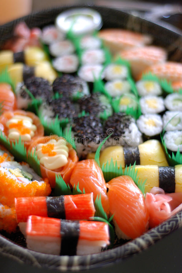 Jogo japonês do sushi fotos de stock