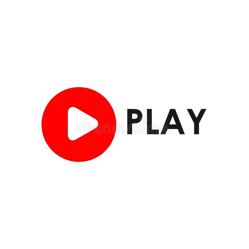 Jogo Logo Vetora Template Design Illustration do botão ilustração stock