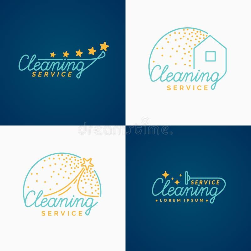 jogo Logotipo da limpeza ilustração royalty free