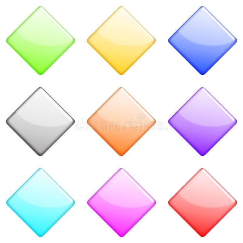 Jogo lustroso 1 do diamante ilustração stock