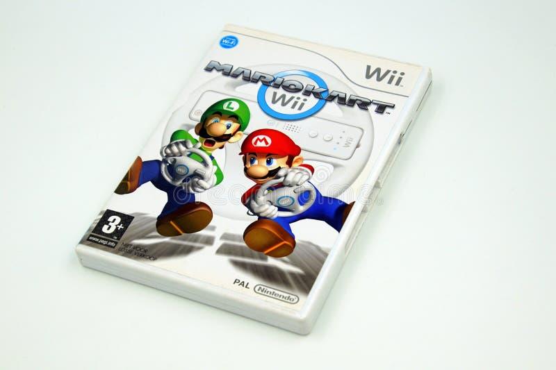 Jogo Mario Kart de Nintendo Wii fotografia de stock royalty free