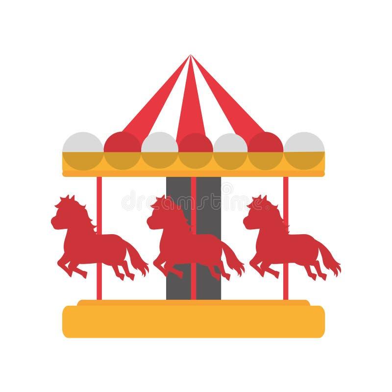 Jogo mecânico do carnaval do passeio do cavalo ilustração do vetor