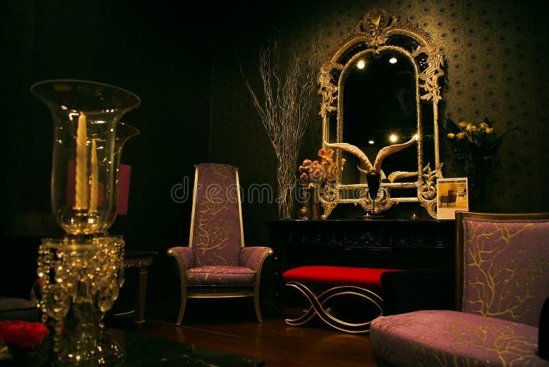 Jogo misterioso e chique da mobília fotografia de stock royalty free