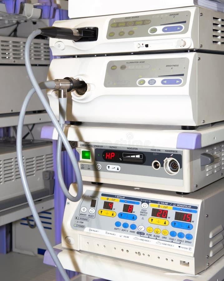 Jogo moderno do equipamento da endoscopia fotos de stock