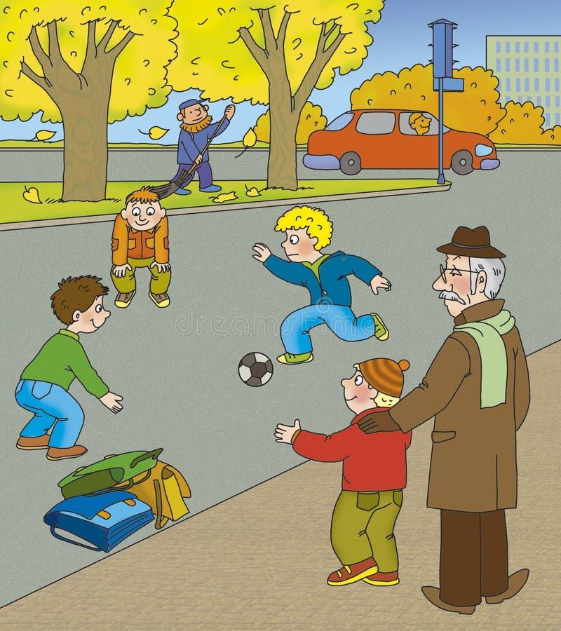 Jogo na estrada ilustração do vetor