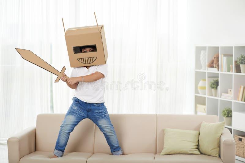 Jogo no robô imagens de stock