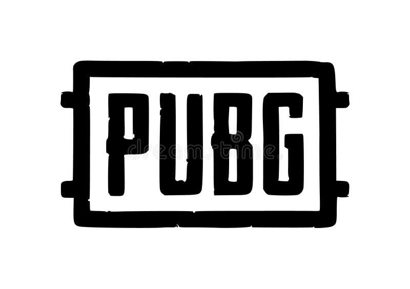 Jogo online Logo Vetora Illustration editorial de Pubg ilustração stock