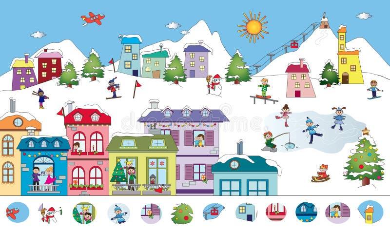 Jogo para crianças ilustração stock