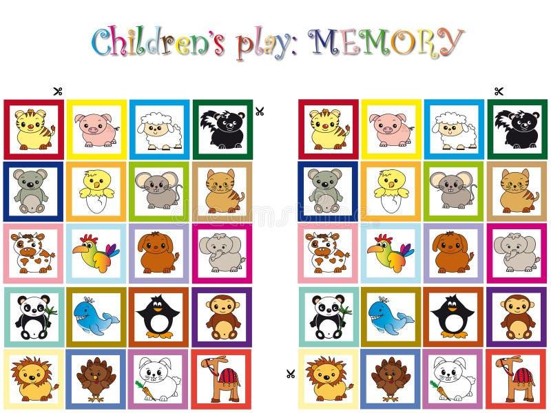 Jogo para crianças ilustração royalty free