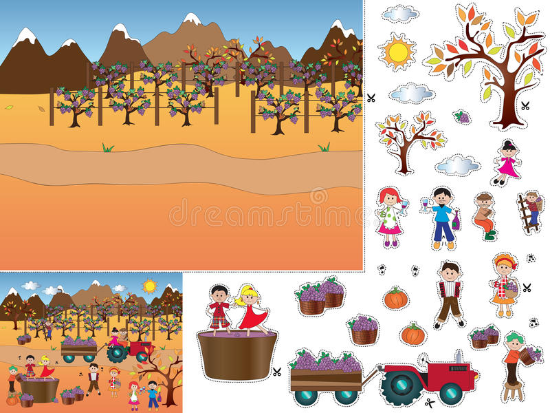 Jogo para crianças ilustração do vetor