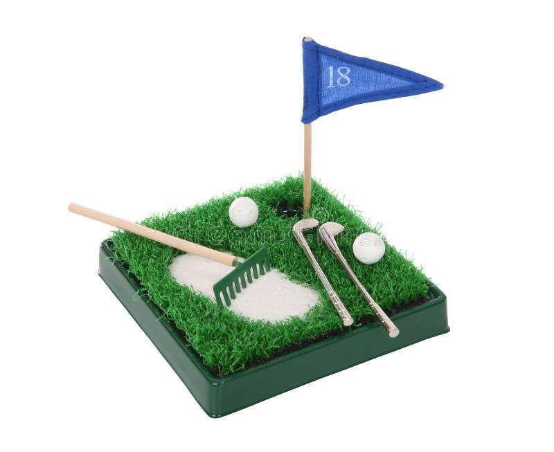 Jogo pequeno engraçado do golfe imagens de stock