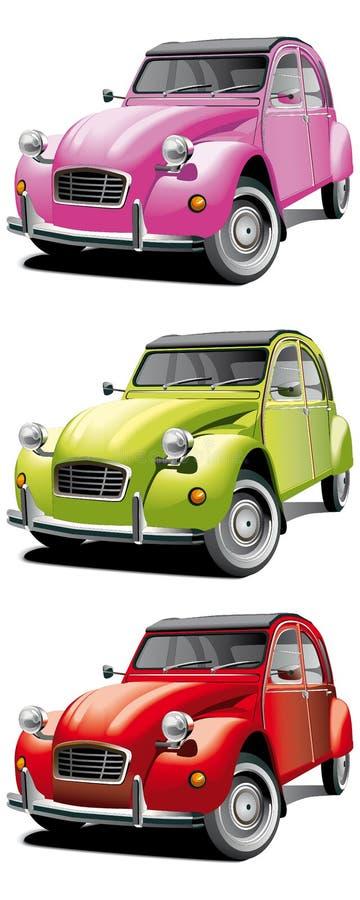 Jogo pequeno velho do carro ilustração stock