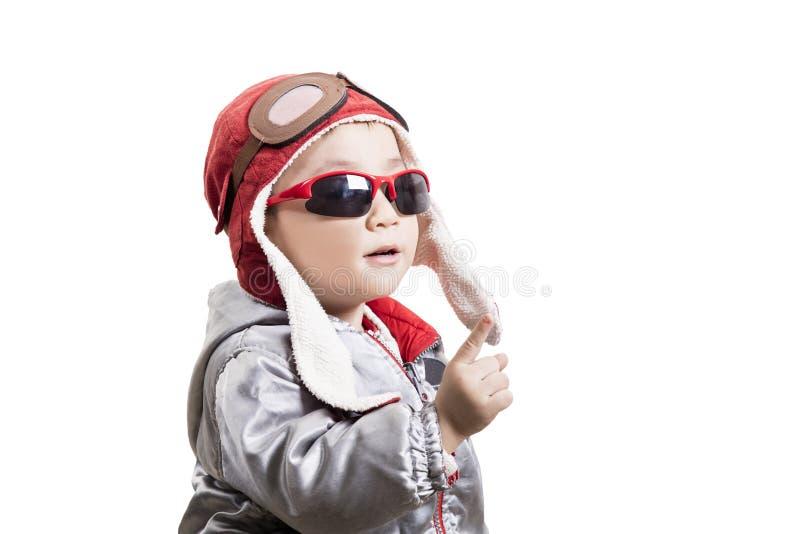 Jogo piloto do capacete esperto da criança fotos de stock royalty free