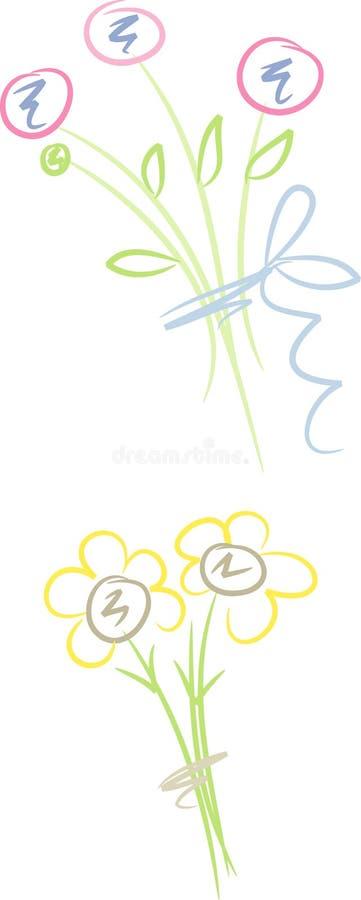 Jogo: Ramalhete das flores ilustração royalty free