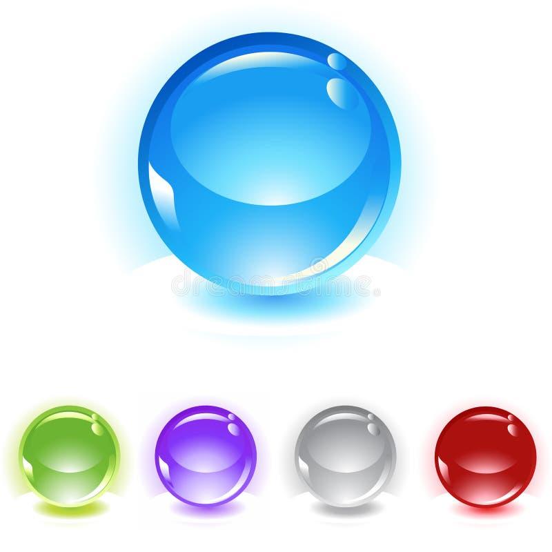 jogo refletindo do ícone do vetor das esferas ilustração stock