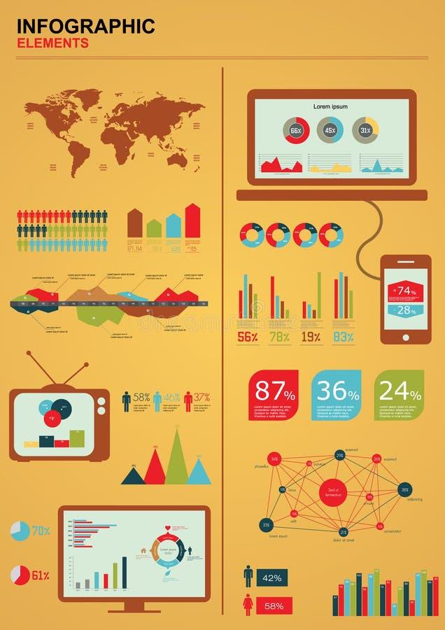 Jogo retro do infographics. ilustração royalty free
