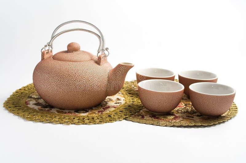 Jogo rosado para o chá fotos de stock royalty free