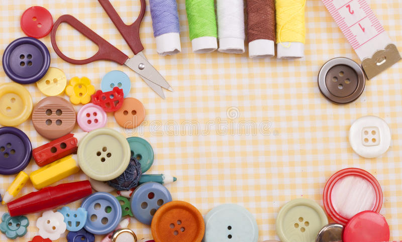 Jogo Sewing foto de stock royalty free