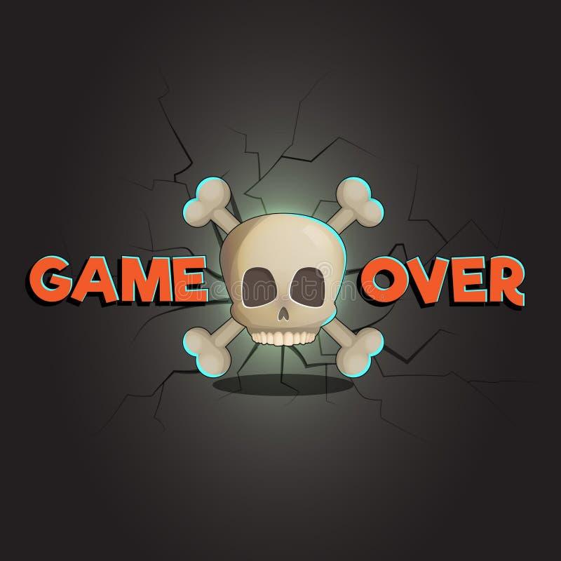 Jogo sobre o jogo do vetor e o fundo abstratos da Web ilustração royalty free