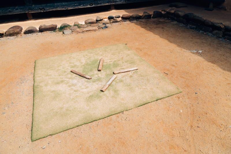 Jogo tradicional coreano, jogo chamado do yut fotos de stock