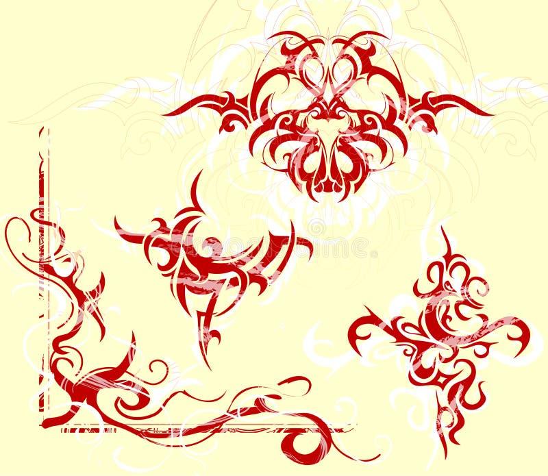 Jogo tribal da arte ilustração stock