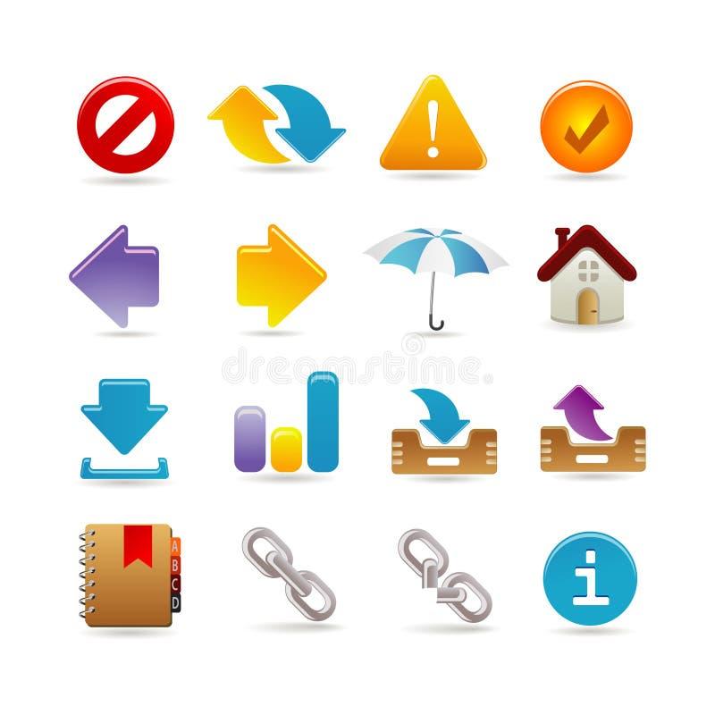 Jogo universal do ícone ilustração stock