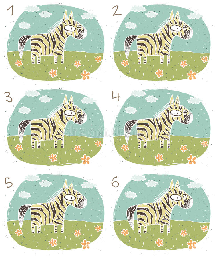 Download Jogo do Visual da zebra ilustração do vetor. Ilustração de desenho - 29842213