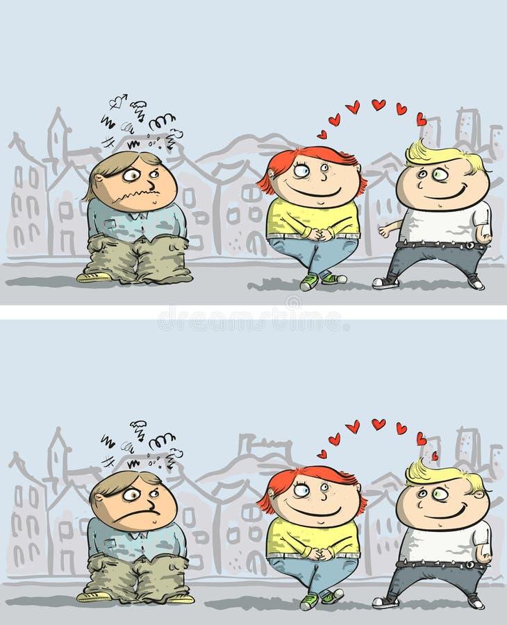 Download Jogo Do Visual Das Diferenças Da Inveja Ilustração do Vetor - Ilustração de mão, pares: 29841980