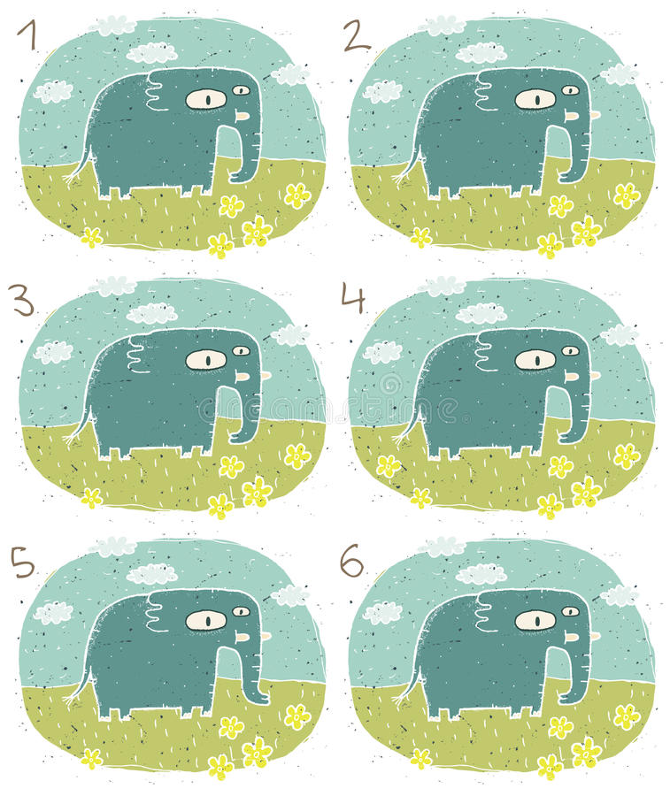 Download Jogo do Visual do elefante ilustração do vetor. Ilustração de animais - 29842102