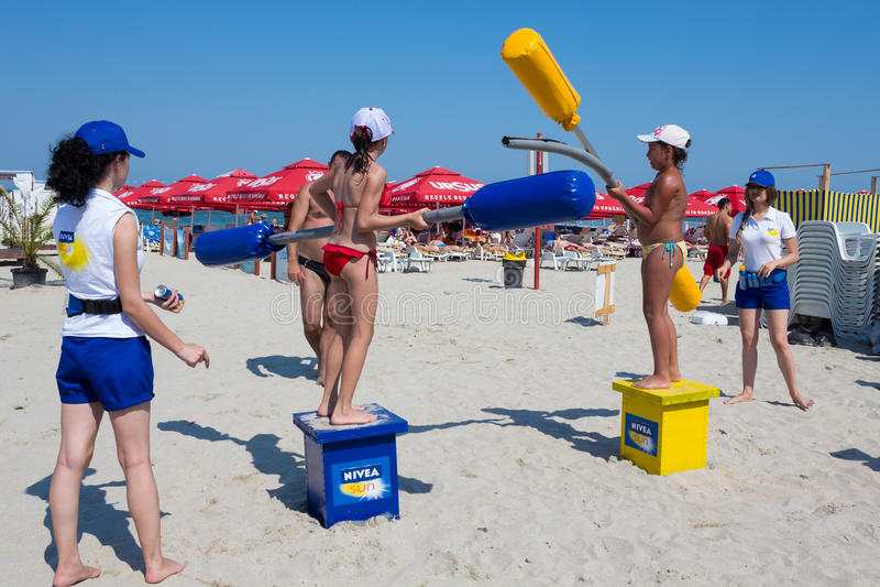 Jogos da praia imagens de stock