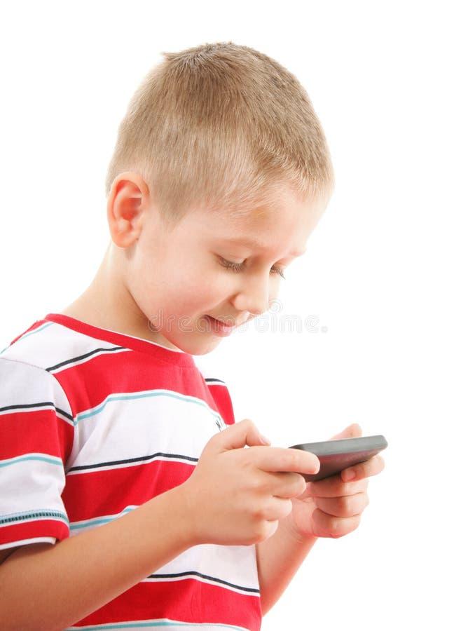 Jogos das brincadeiras no telefone celular foto de stock royalty free