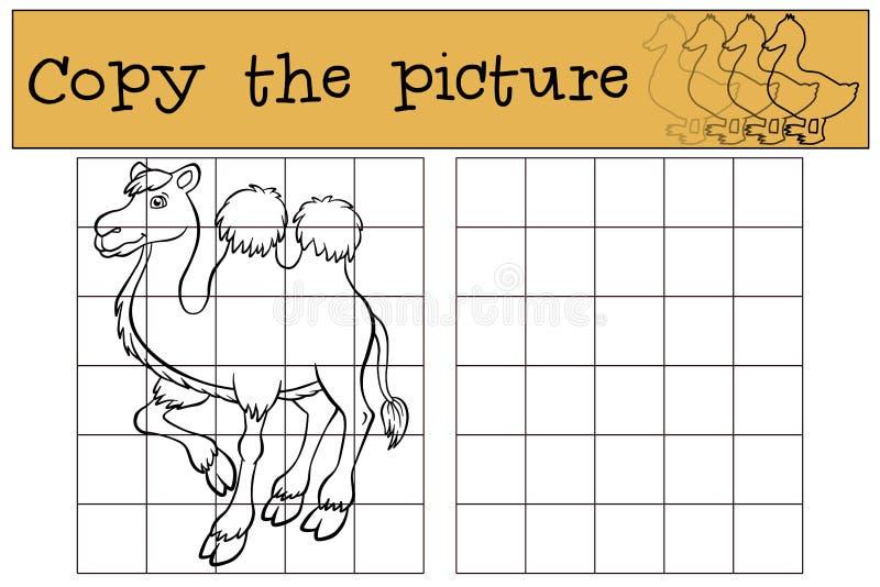 Jogos das crianças: Copie a imagem Camelo bonito ilustração do vetor