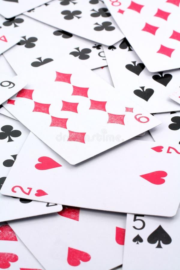 Jogos de cartão imagens de stock
