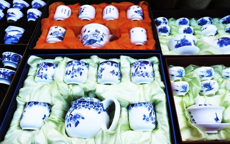 Jogos de chá foto de stock