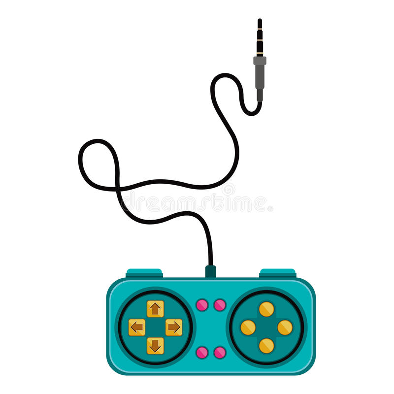 Jogos de controle remoto com formulário do retângulo ilustração royalty free