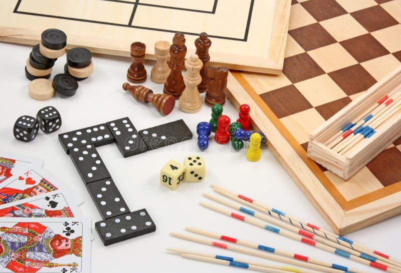 Jogos de mesa no branco fotografia de stock