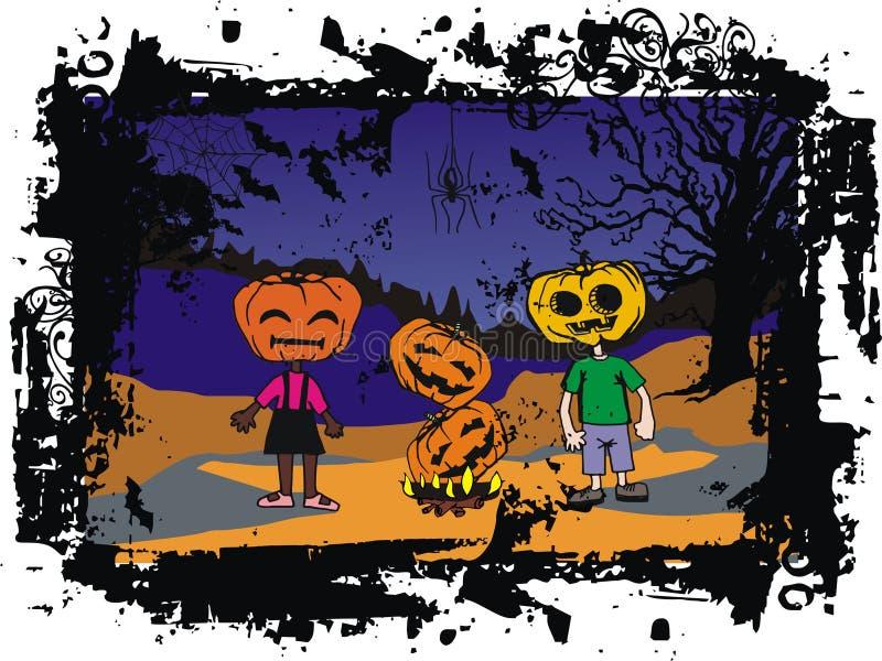 Jogos de partido de Halloween ilustração stock
