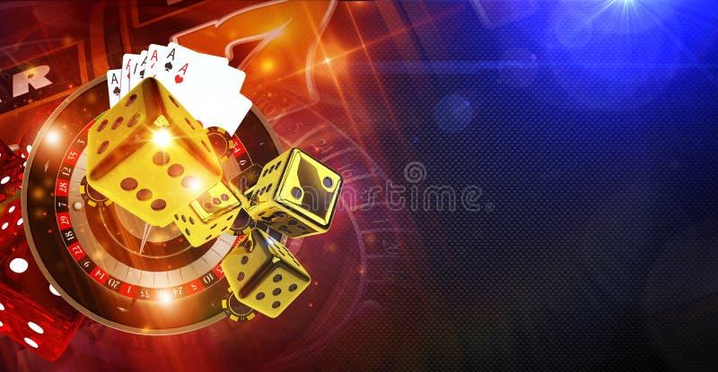 Jogos do casino da fortuna ilustração do vetor