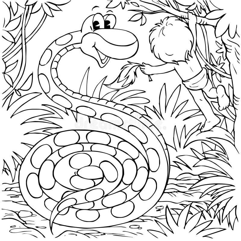 Jogos do menino com boa ilustração stock