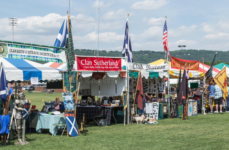 Jogos do Scottish do SC de Greenville foto de stock royalty free