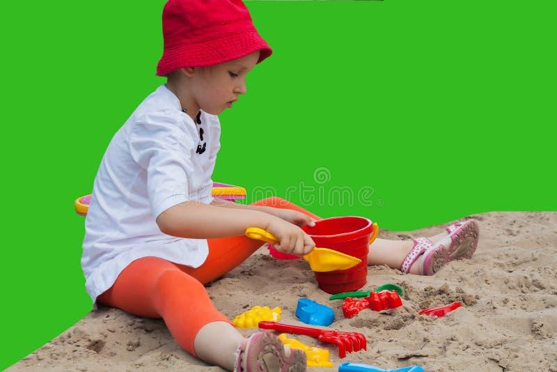 Jogos do verão Formulários para o jogo com areia fotografia de stock royalty free