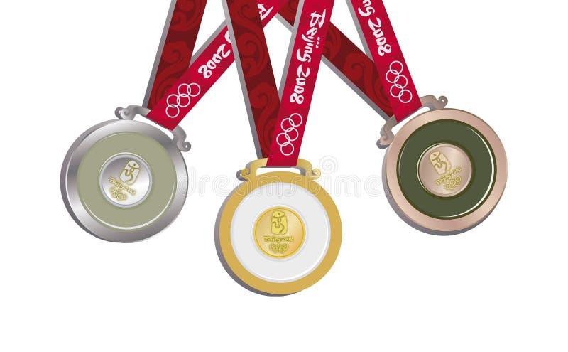 Jogos Olímpicos de Beijing ilustração royalty free