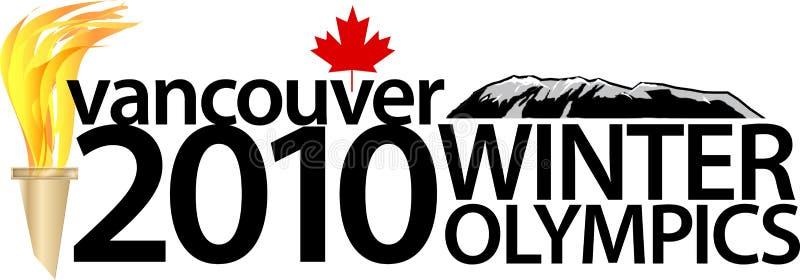 Jogos Olímpicos de Inverno 2010 de Vancôver ilustração do vetor