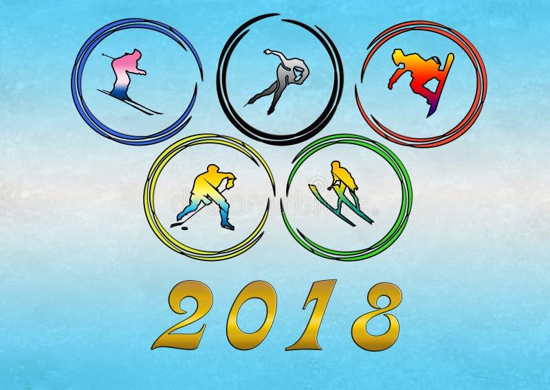 2018 Jogos Olímpicos do inverno ilustração do vetor