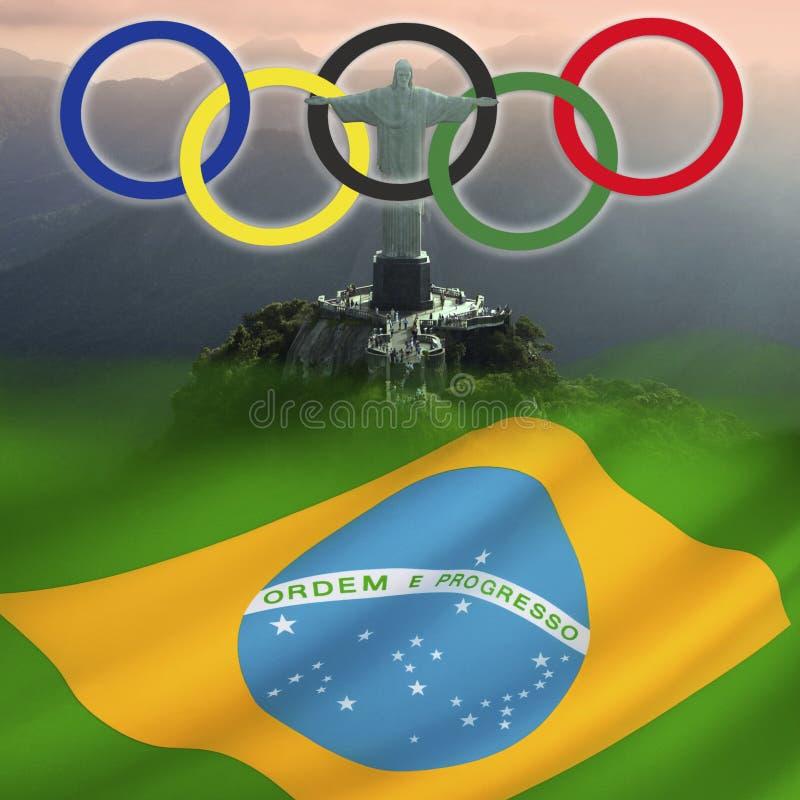 Jogos Olímpicos 2016 - Rio de janeiro - Brasil ilustração do vetor