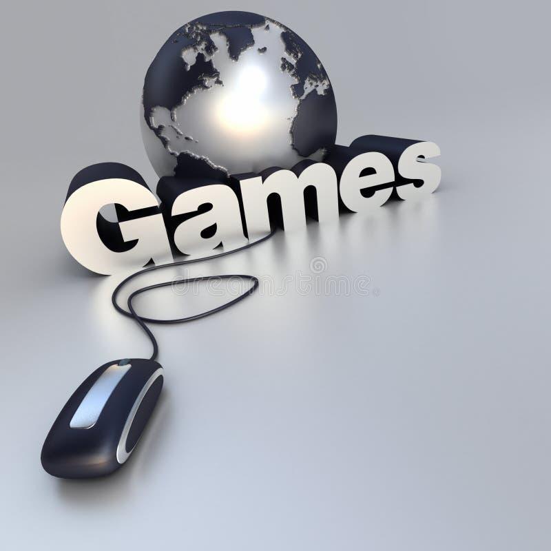Jogos onlines ilustração stock