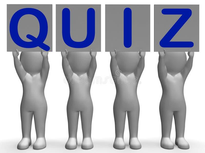 Jogos ou exames de questionário dos meios das bandeiras do questionário ilustração do vetor