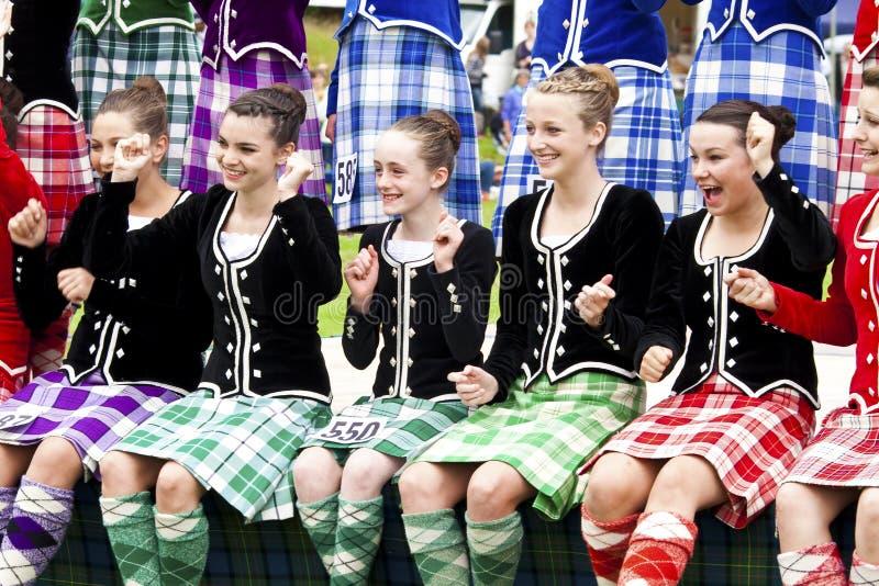 Jogos scotland das montanhas imagens de stock