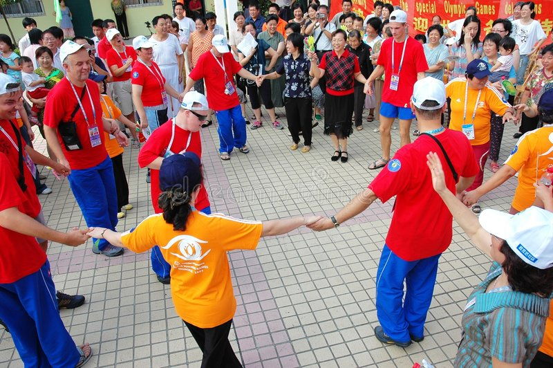 Jogos shanghai 2007 do verão do mundo dos Jogos Paralímpicos fotografia de stock royalty free