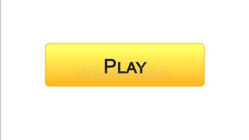 Jogue a cor alaranjada do botão da relação da Web, aplicação do jogo online, programa video ilustração do vetor